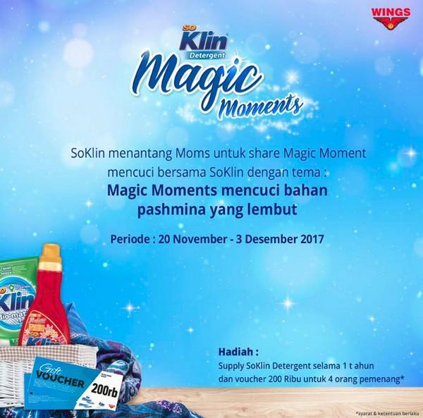 Lomba Foto Magic Moment SoKlin Berhadiah Suplai Produk 1 Tahun & Voucher