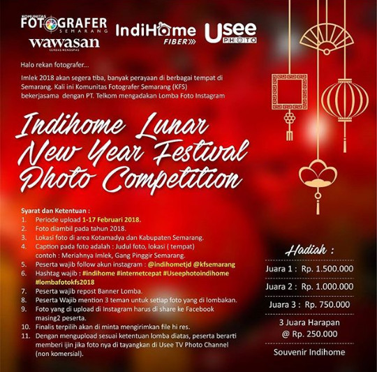Indihome Lunar New Year Festival Photo Competition