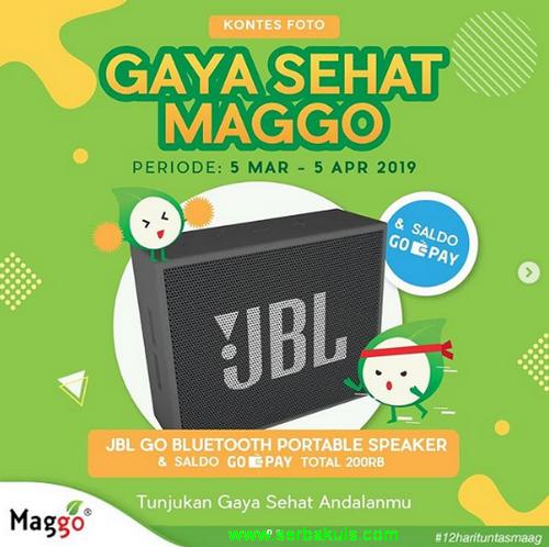 Lomba Foto Gaya Sehat Maggo Berhadiah Speaker JBL Go & GoPay