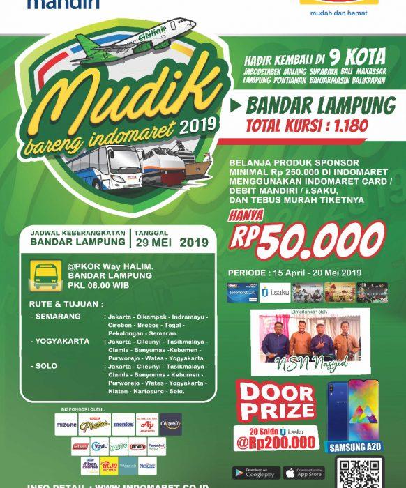 Mudik Bareng Indomaret 2019 Bandar Lampung