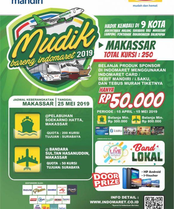 Mudik Bareng Indomaret 2019 Makassar