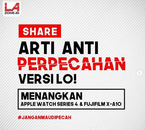 Share Arti Anti Perpecahan Versimu BerhadiahApple Watch 4 & Fujifilm X-A10