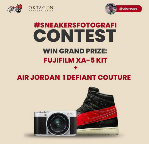 Kontes Foto Sneakers Berhadiah Fujifilm XA-5 KIT & Sepatu Air Jordan