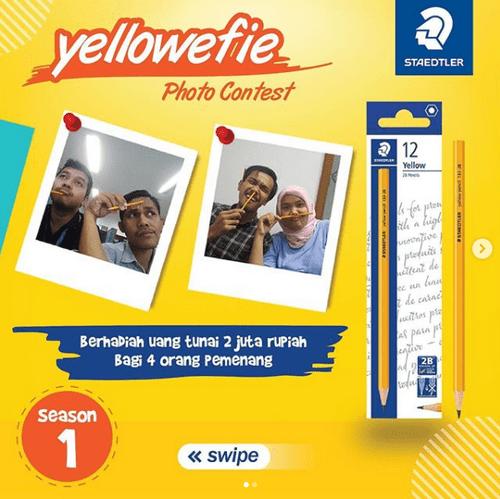 Lomba Foto Yellowefie Berhadiah Uang Total 2 Juta Rupiah dari Staedtler