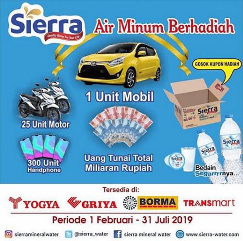 Promo Gosok Kupon Sierra Berhadiah Mobil 25 Motor 300 Hp Uang