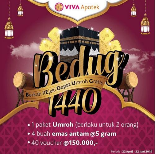 Promo Undian VIVA Apotek Berhadiah Umroh, Emas Antam & Voucher [22/06/2019]
