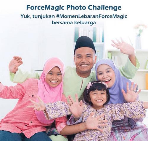 Kontes Foto Momen Lebaran ForceMagic Berhadiah Pulsa Total 1 Juta