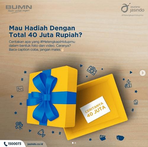 Mau Hadiah Total 40 Juta Rupiah? Yuk Ikut Kontes Instagram dari Jasindo