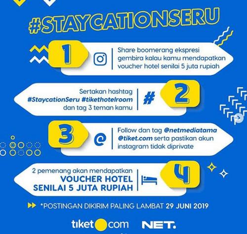 Share Boomerang Staycation Seru Berhadiah 2 Voucher Hotel 5 Juta Rupiah