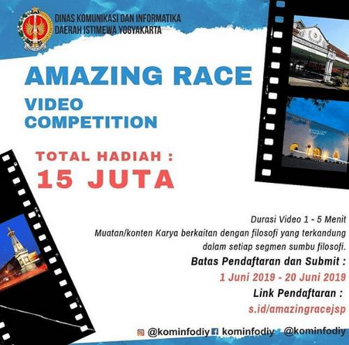 Video Competition Dari Kominfo DIY Berhadiah Total 15 Juta Rupiah