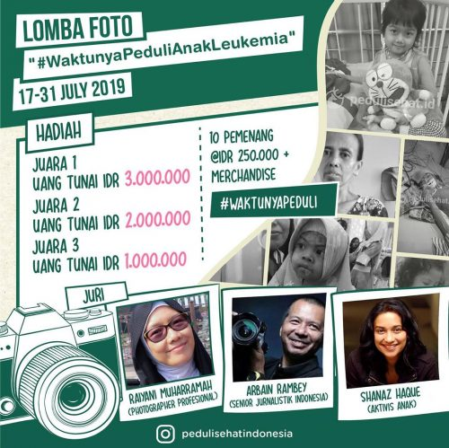 Lomba Foto Waktunya Peduli Anak Leukimia [31/07/2019]