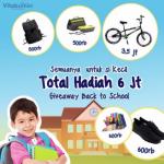 Kuis Vitabumin Back to School Berhadiah Sepeda, Tas, Sepatu, dll