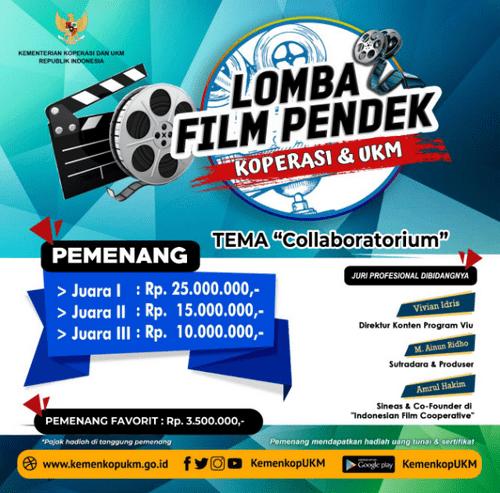 Lomba Film Pendek Koperasi & UKM Berhadiah Total 53,5 Juta Rupiah [09/10/2019]
