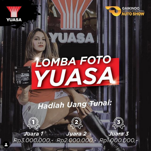Lomba Foto Model Yuasa GIIAS 2019 Berhadiah Uang Total 6 Juta Rupiah