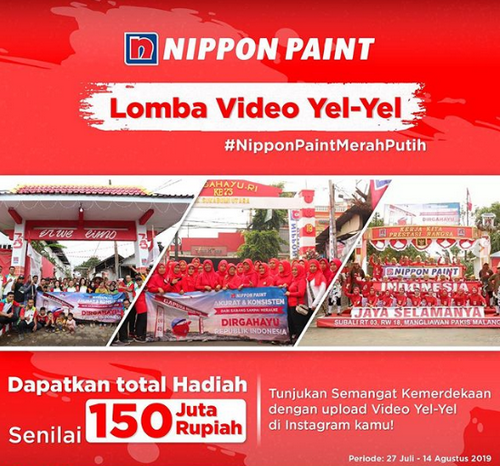 Lomba Video Yel-Yel Nippon Paint Merah Putih [14/08/2019]