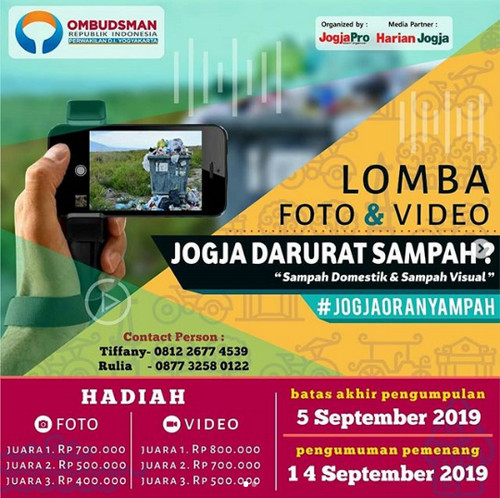Lomba Foto & Video Jogja Darurat Sampah