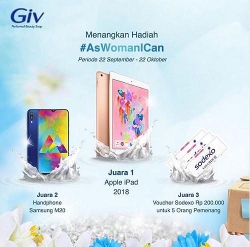 Kontes Video As Woman I Can Berhadiah iPad, Samsung M20 dan Voucher