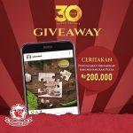 Kuis 30 Tahun Sumber Selera Berhadiah Pulsa 200K untuk 3 Pemenang