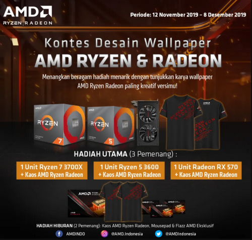 Lomba Desain Wallpaper AMD Berhadiah Prosesor Ryzen & VGA Radeon