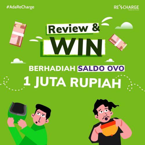 Review Apps ReCharge dan Menangkan Saldo OVO 1 Juta Rupiah