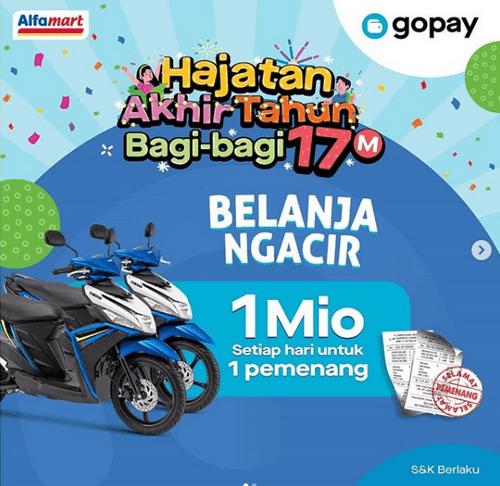 Belanja di Alfamart Dengan Gopay Berhadiah Yamaha Mio Setiap Hari