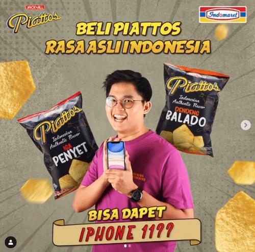 Promo Piattos Rasa Asli Indonesia Berhadiah iPhone 11 dan lainnya