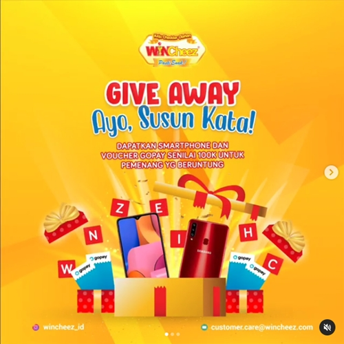Giveaway Susun Kata WINCheez November 2020