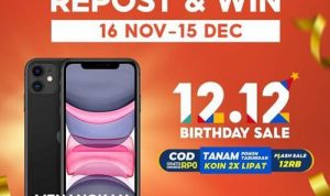 Repost & Win 12.12 Birthday Sale Shopee Indonesia 2020