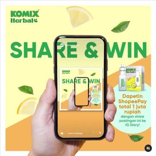 Share & Win Komix Herbal 2020