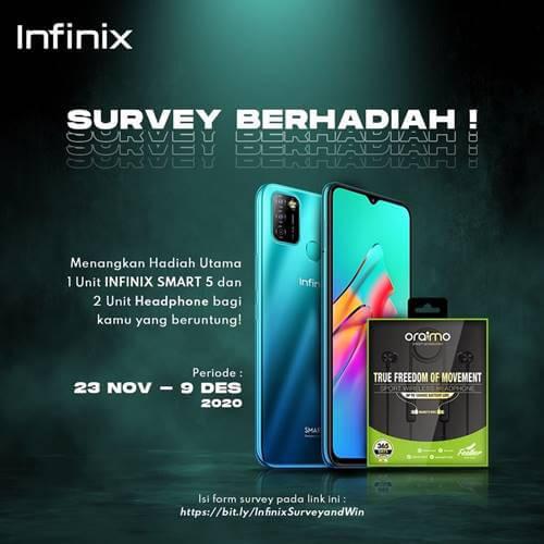 Survey Berhadiah Infinix Indonesia 2020