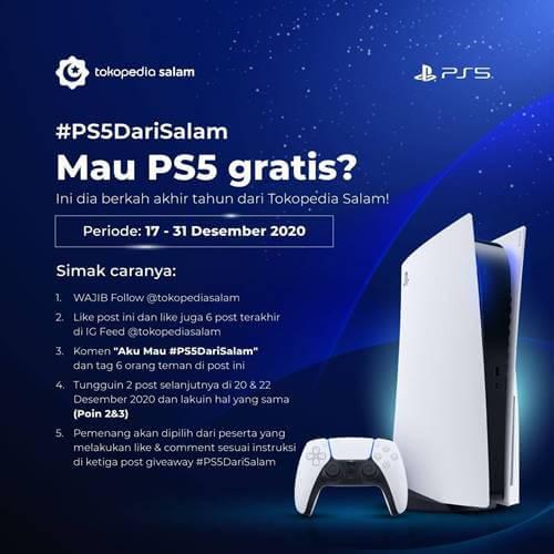 PS5 dari Tokopedia Salam 2020