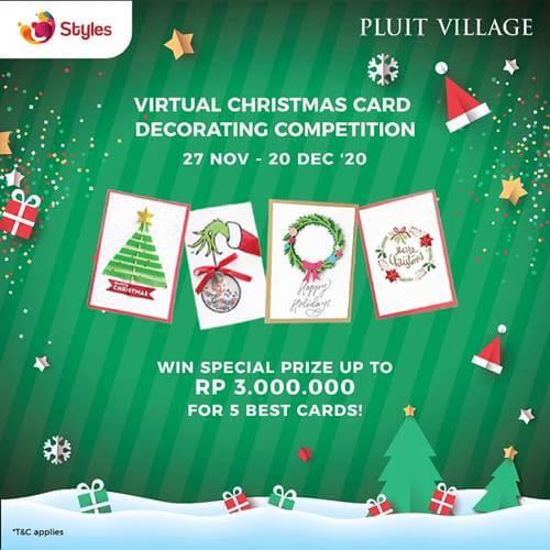 Virtual Christmas Card Decorating Competition Pluit Village 2020