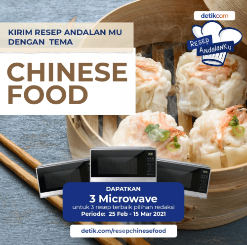Lomba Resep Chinese Food Andalan Berhadiah 3 Microwave