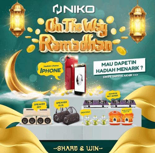 Giveaway Niko OTW Ramadhan Berhadiah 15gr Emas, iPhone, Speaker, dll