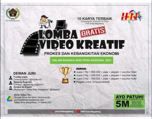 Lomba Video Kreatif PWI Kota Magelang Berhadiah Jutaan Rupiah