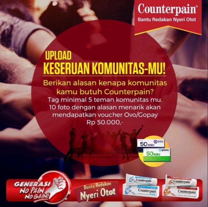 Counterpain Photo Challenge Berhadiah OVO/GoPay 500 RIBU