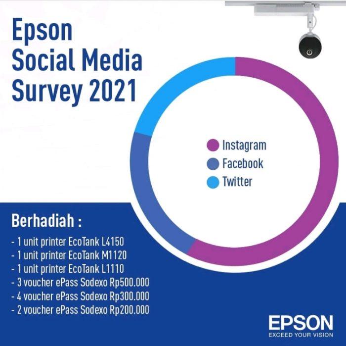 Epson Sosmed Survey 2021 Hadiah Printer & Voucher Ratusan RIBU