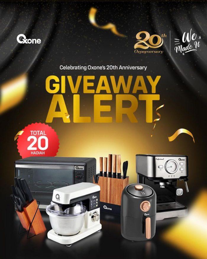 Giveaway Oxone's 20th Anniversary Berhadiah 20 Peralatan Dapur