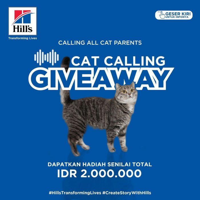 Cat Calling Giveaway Berhadiah Senilai Total 2 JUTA Rupiah