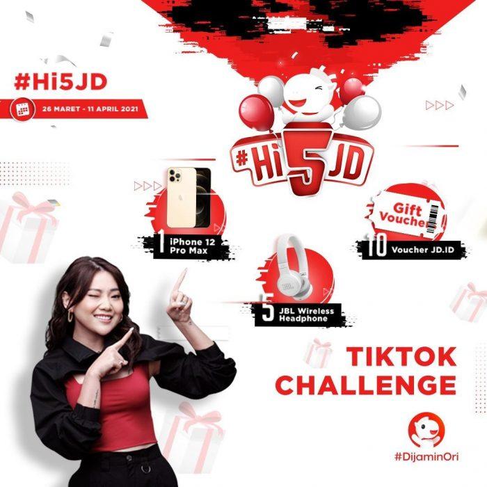 #Hi5JD TikTok Challenge Berhadiah iPhone 12, JBL Headphone, dll