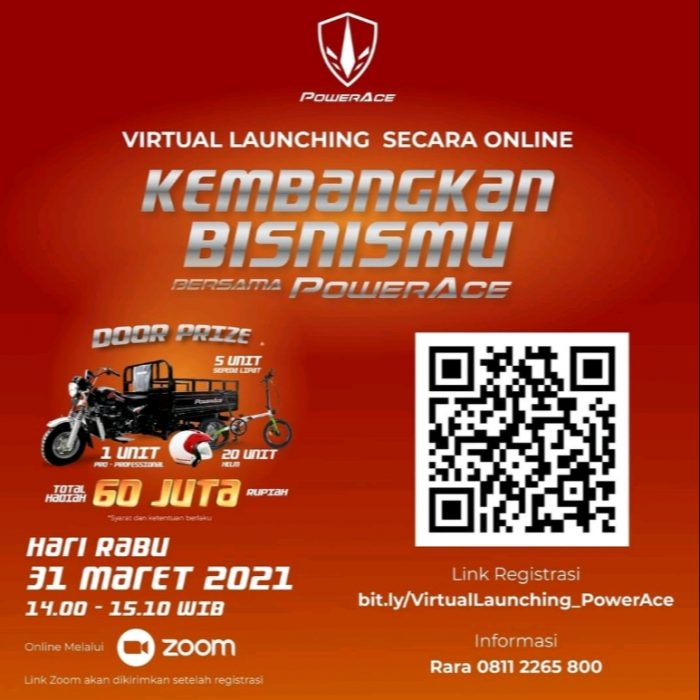 Virtual Launching PowerAce Hadiah PRO-Professional, Sepeda, dll