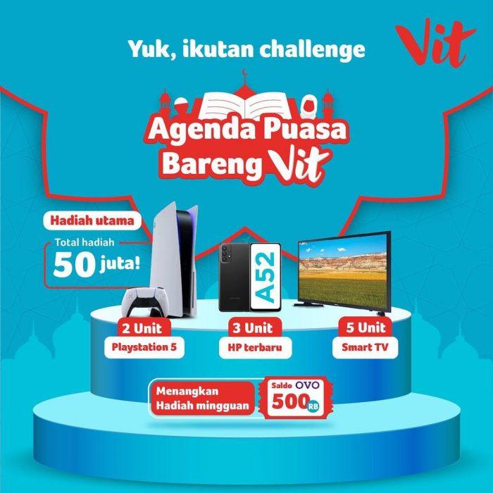 Kuis Agenda Puasa Bareng VIT Berhadiah PS 5, HP, Smart TV, dll