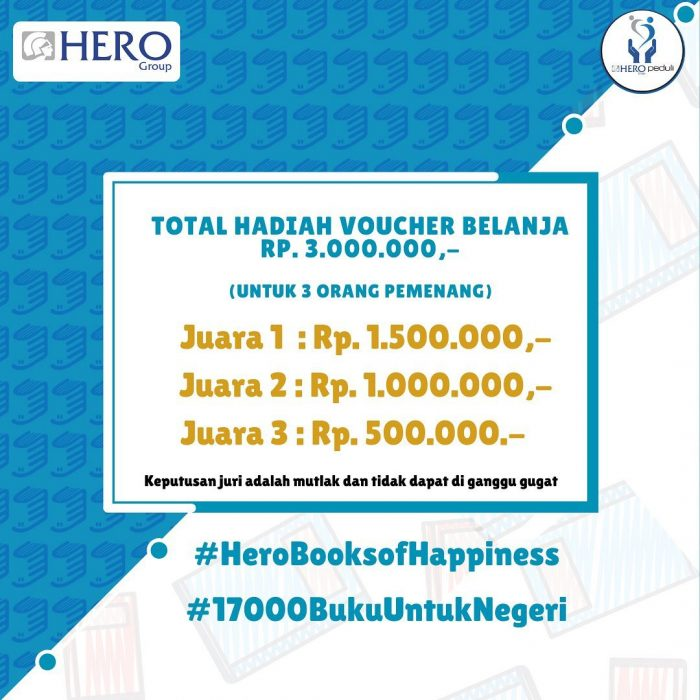 Lomba Cerita Buku Favoritmu Hadiah Voucher Jutaan Rupiah