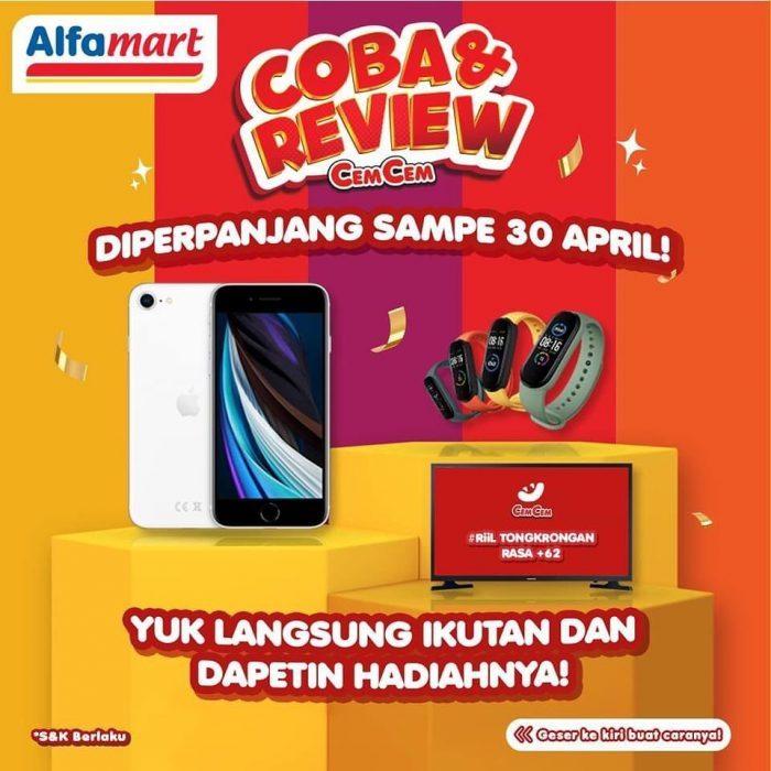 Lomba Coba & Review CemCem Hadiah iPhone SE, Smart TV, dll