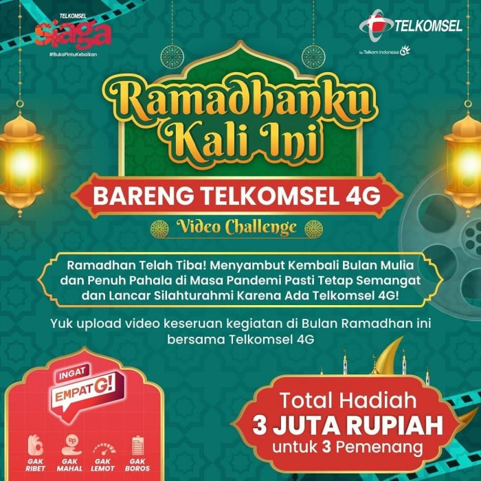 Lomba Ramadhanku Bareng Telkomsel 4G Hadiah Jutaan Rupiah