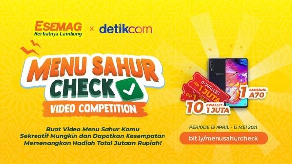 Lomba Video Menu Sahur Check Hadiah HP dan E-wallet Rp 10 JUTA