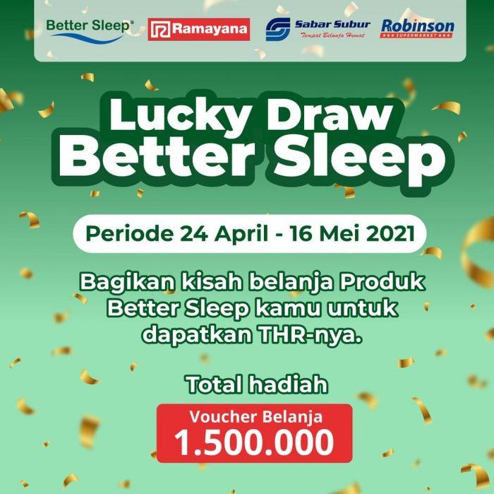 Program Undian Lucky Draw Bsleep Hadiah Voucher Rp 1,5 JUTA