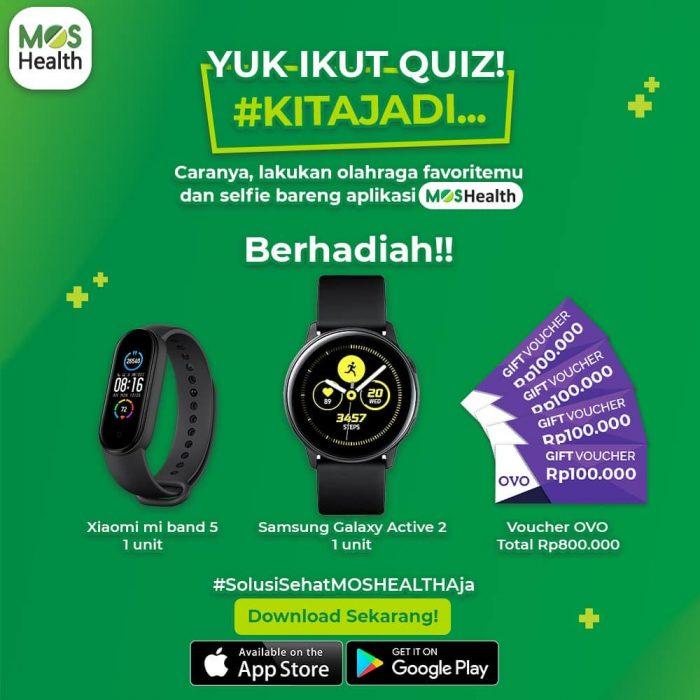 Quiz World Health Day Berhadiah Samsung Active 2, Mi Band 5, dll
