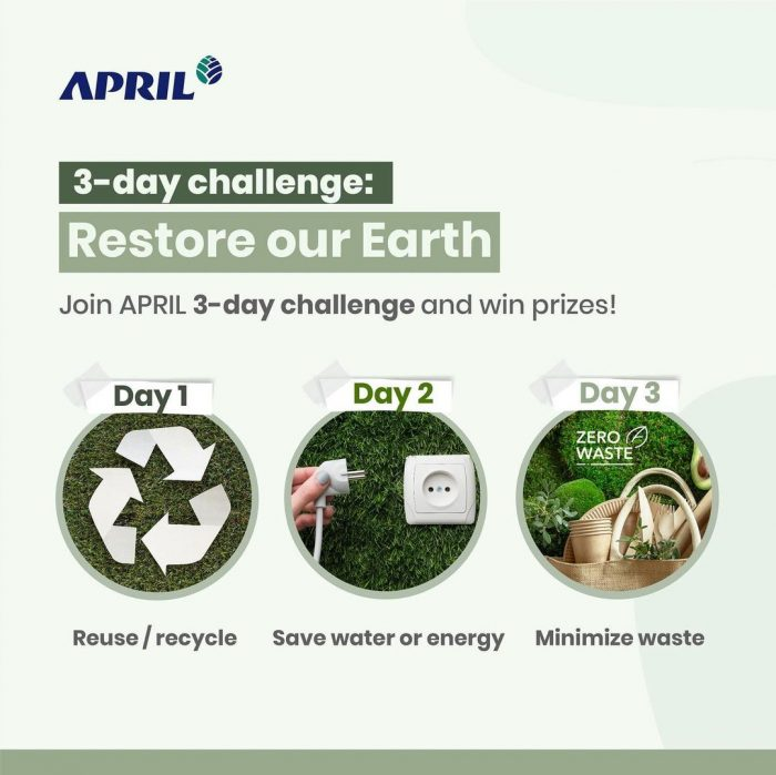 Restore our Earth Challenge Hadiah Kamera mini, Smart watch, dll