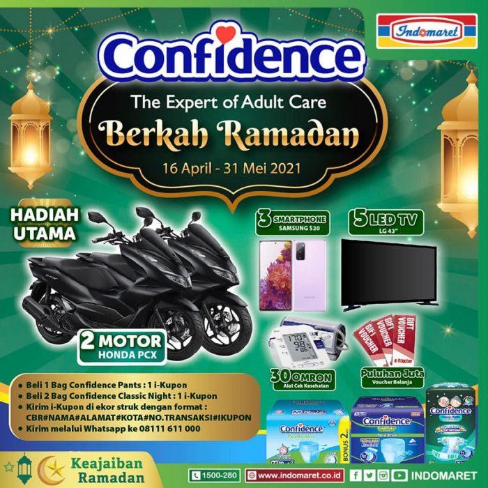 Undian Berkah Ramadan Confidence Berhadiah Motor Honda PCX
